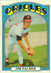 1972 Topps Baseball Cards      270     Jim Palmer